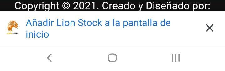 pwa lion stock